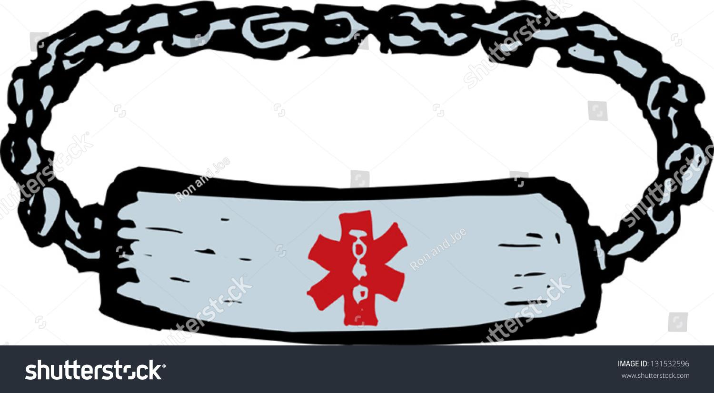 Vector Illustration Medical Alert Bracelet Stock Vector Royalty