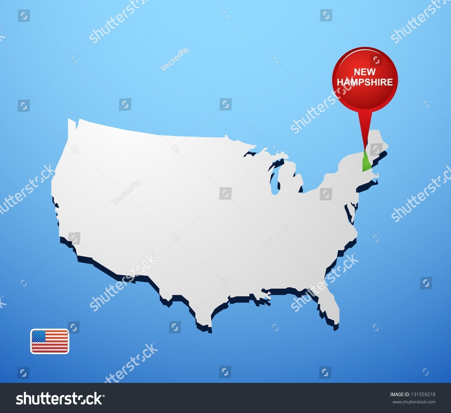 New Hampshire On Us Map Map Of University Of Washington - Us map new hampshire