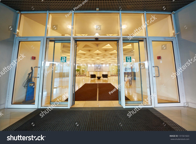 Entrance Door Reception Hall Office Building Stock Photo