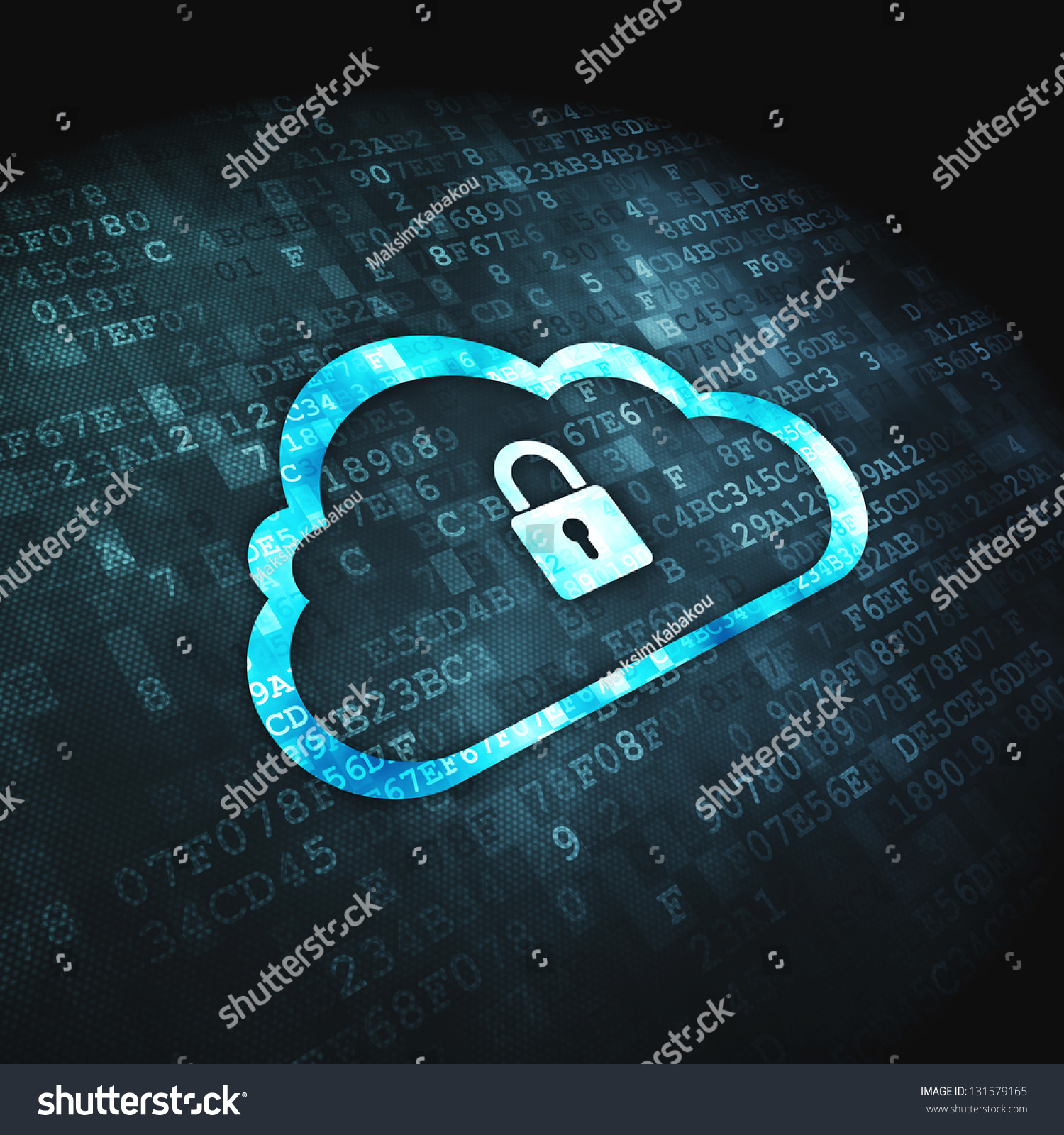 Networking Cloud Computing: Cloud Computing Or Network Security Concept: Pixelated
