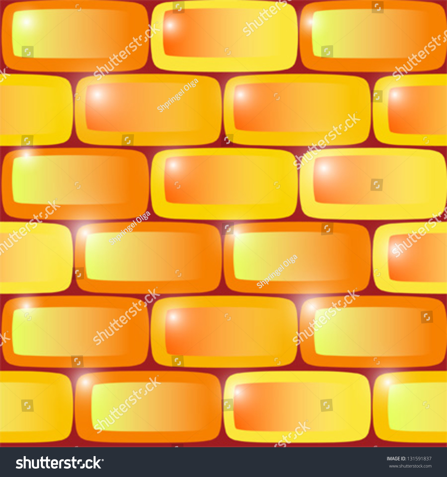 Seamless Pattern Background Wall Color Yellow Stock Vector (Royalty ...