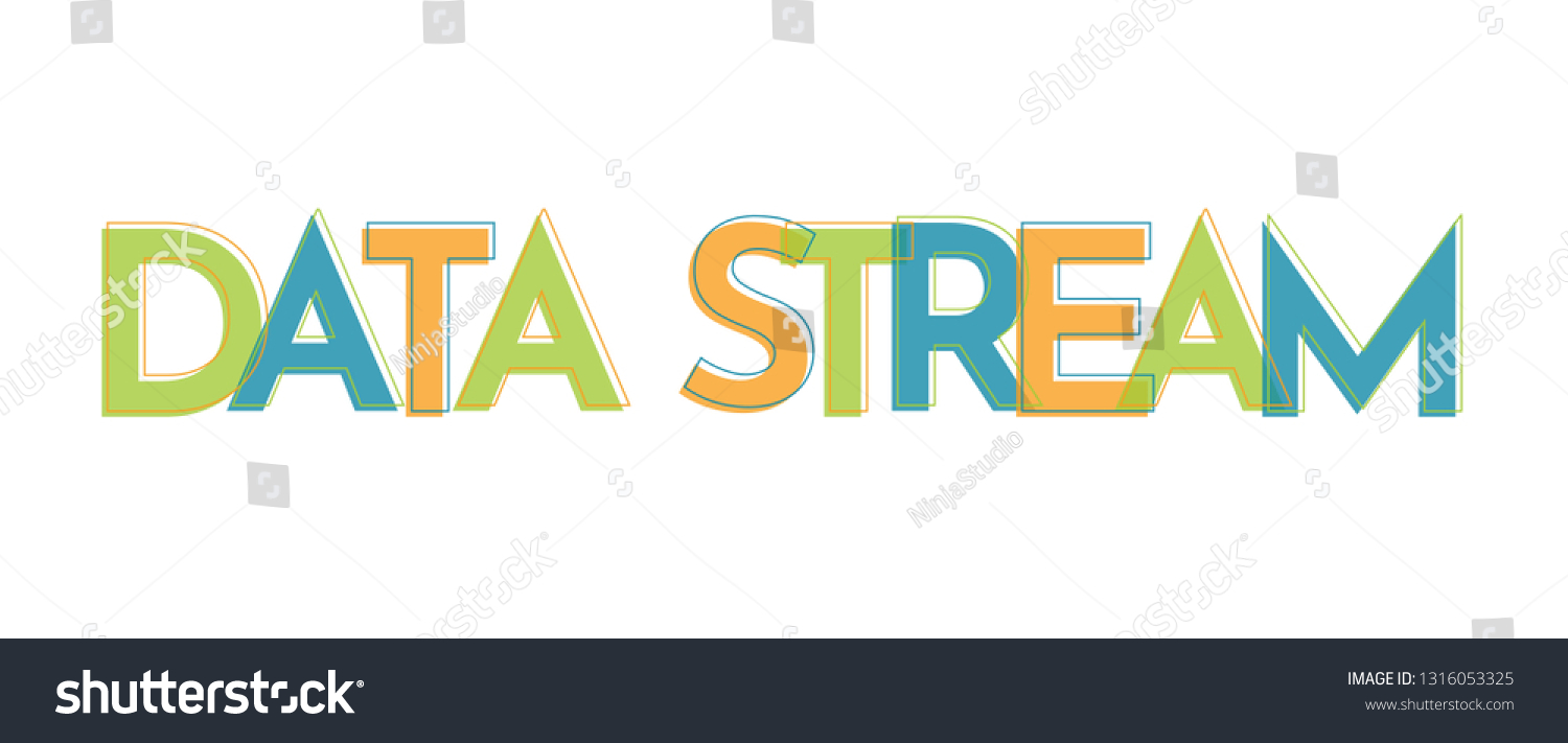 Data Stream Word Concept Data Stream Stock Vector (Royalty