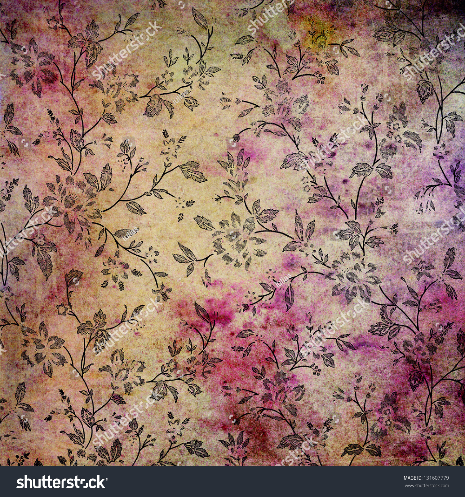 Abstract Colorful Background Or Paper With Flower-Theme