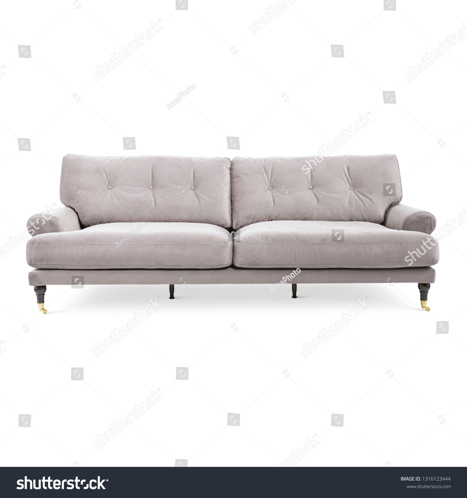 Beige Sofa Set Isolated On White Stock Photo Edit Now 1316123444
