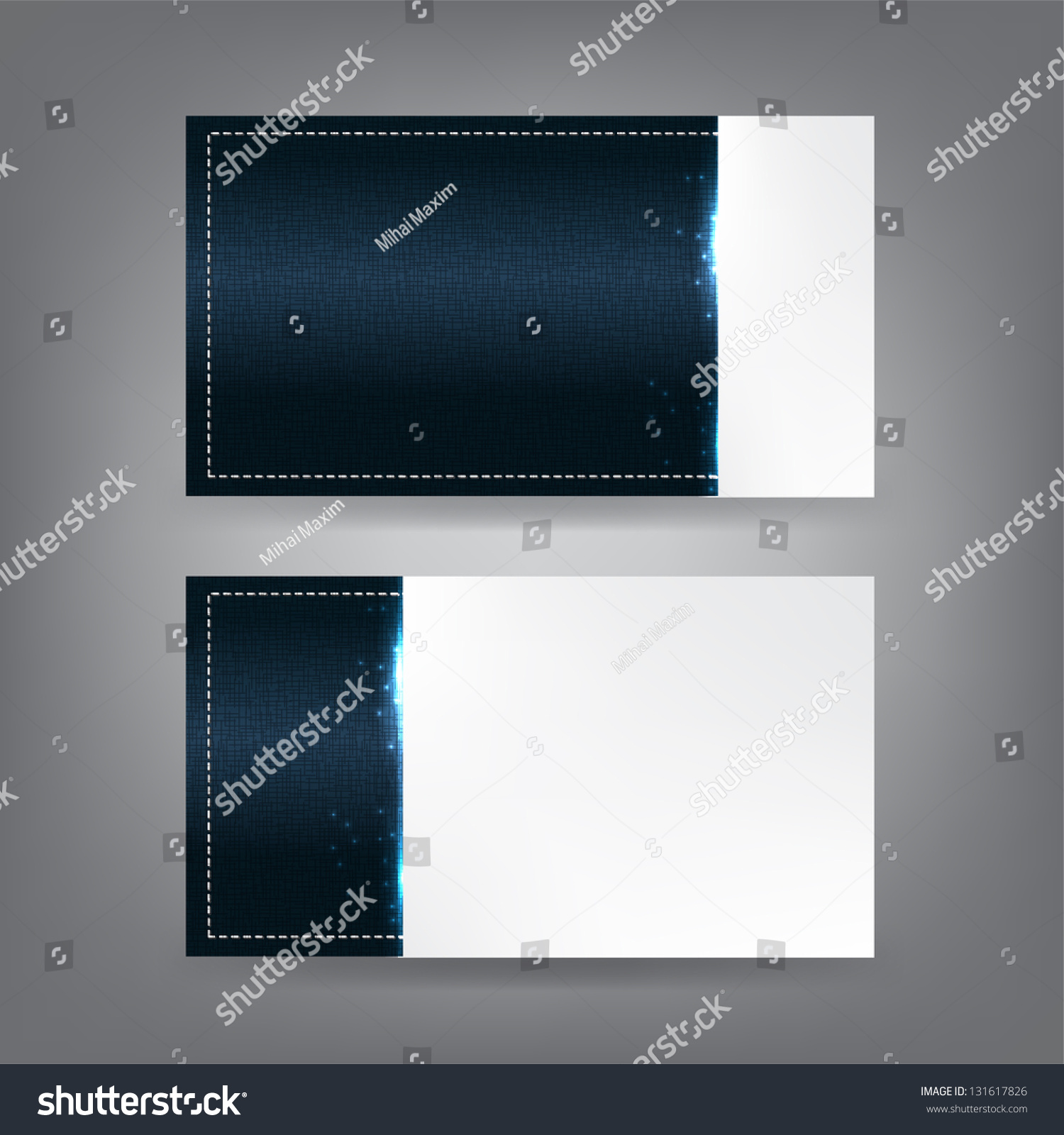 Stitched Textile Sparks Theme Business Card Stock Illustration ...