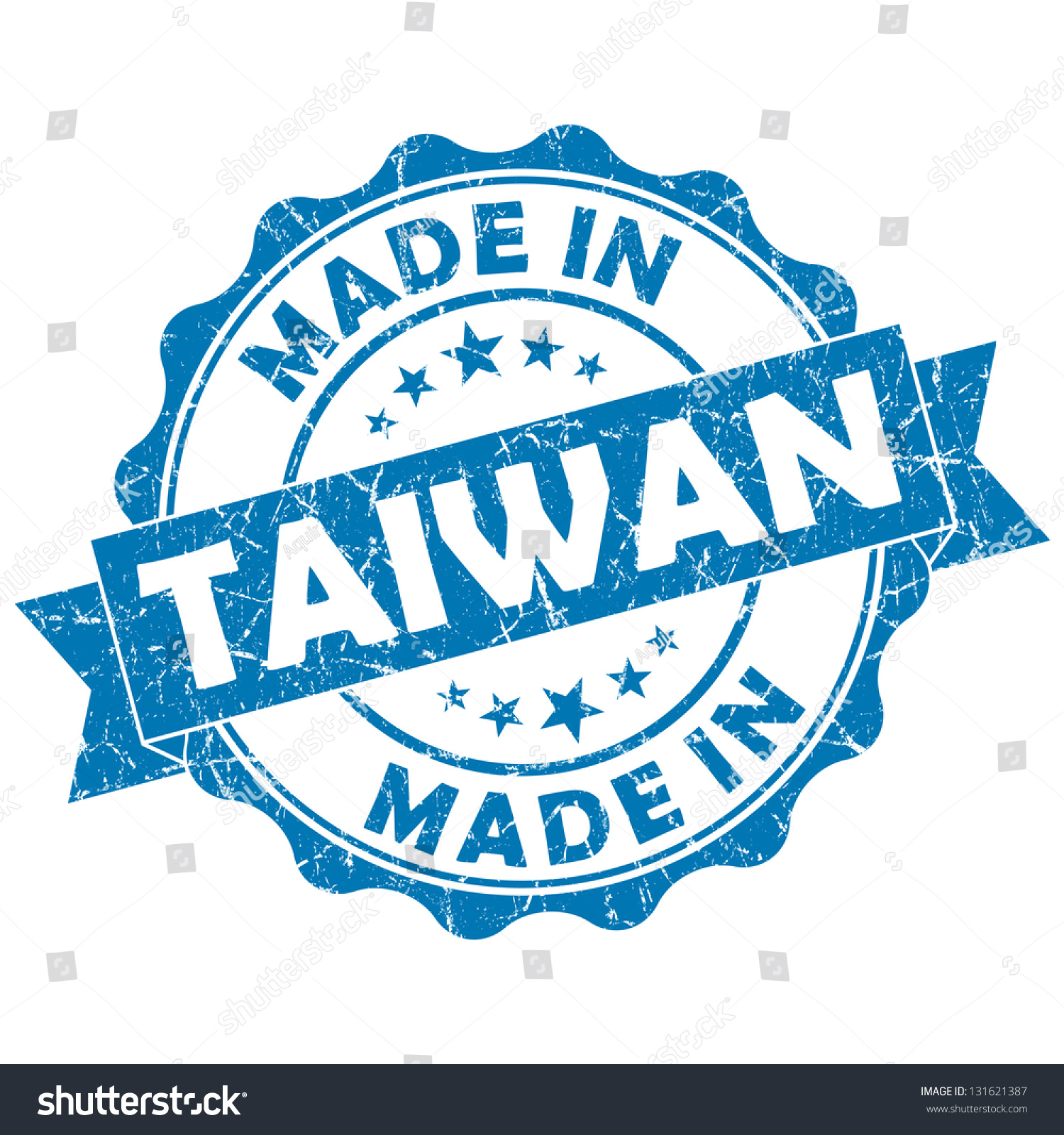 Made Taiwan Stamp Stock Illustration 131621387 Shutterstock