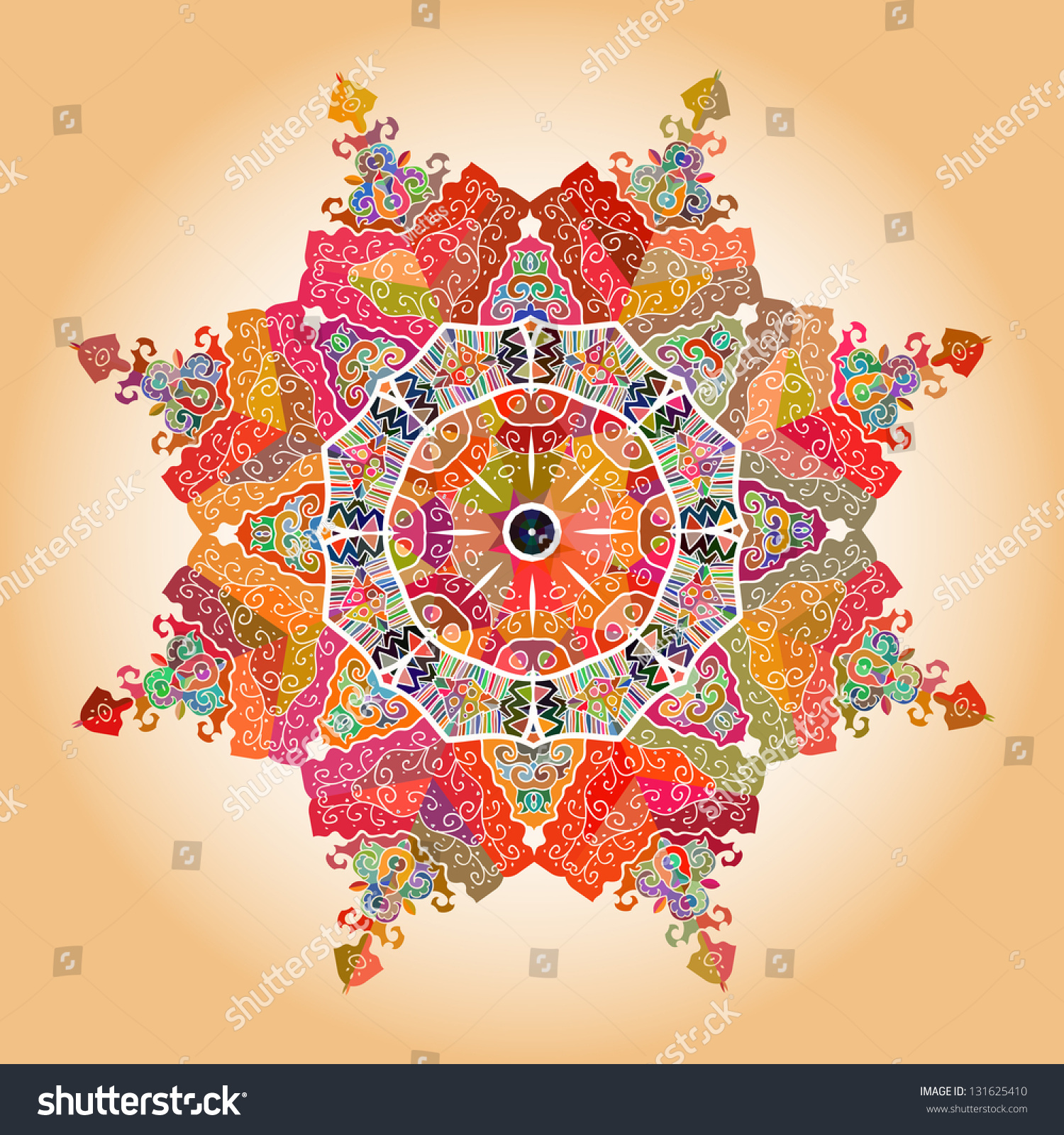 oriental mandala motif round lase pattern stock illustration 131625410 shutterstock. Black Bedroom Furniture Sets. Home Design Ideas