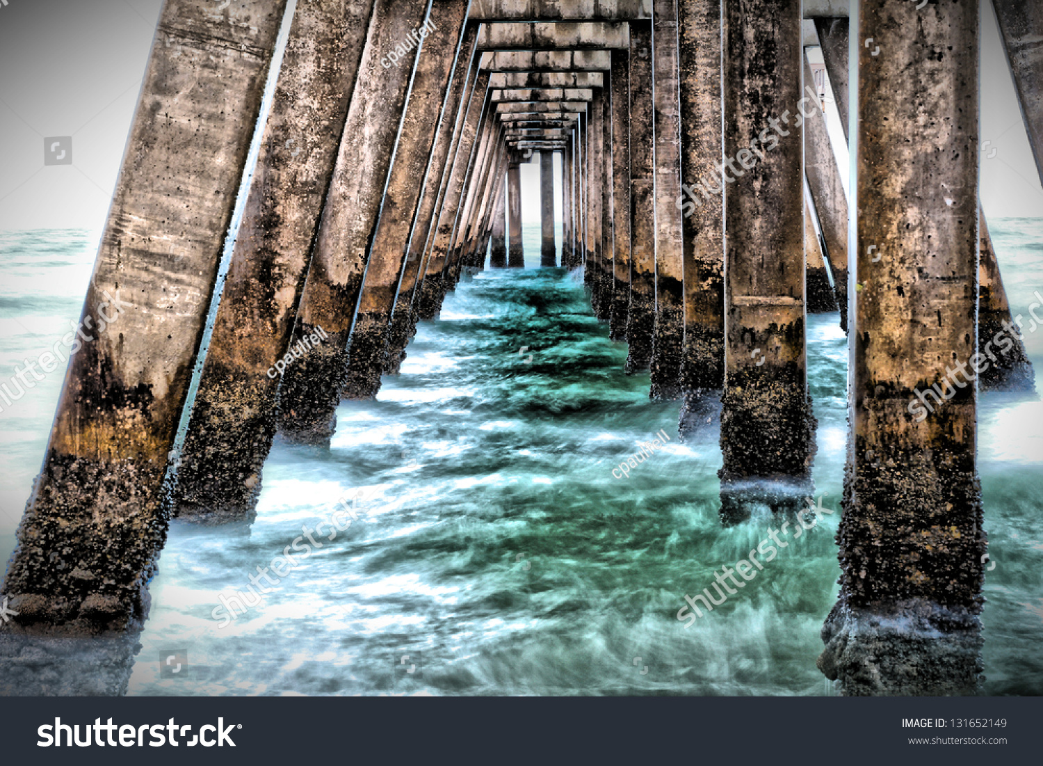 stock-photo-under-the-pier-in-the-early-