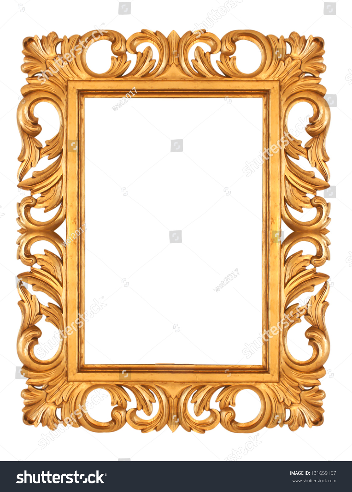 Faux Picture Frames On Walls : Old antique gold picture frame wall wallpaper decorative