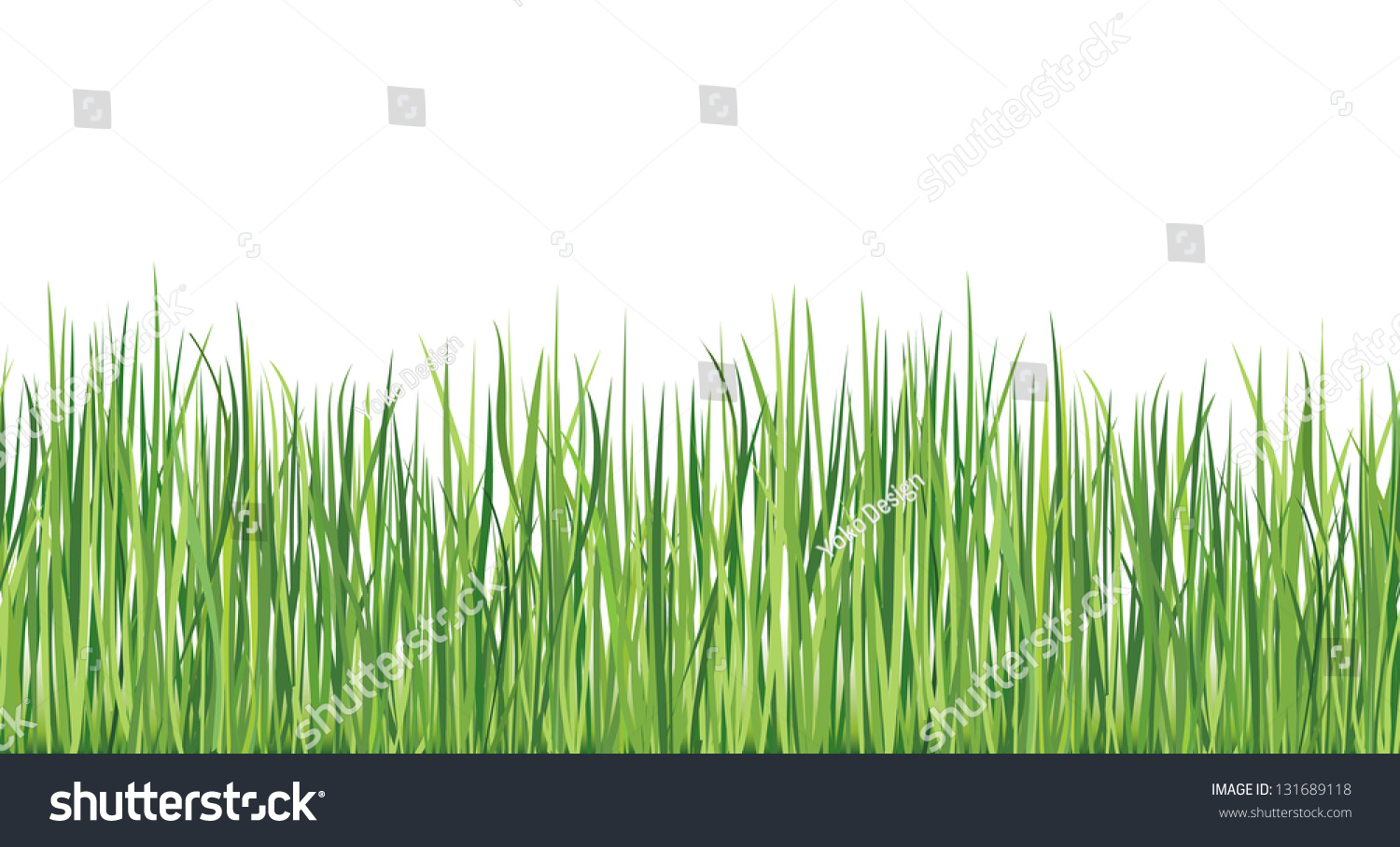 Grass Seamless Border Summer Outdoor Background Stock Vector