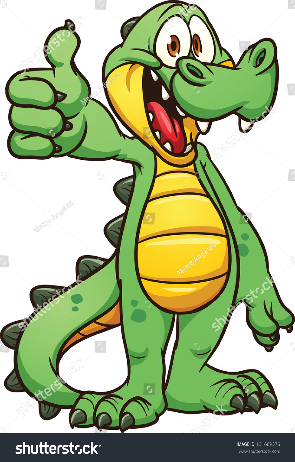 Cartoon Crocodile Vector Clip Art Illustration Stock ... - photo#15