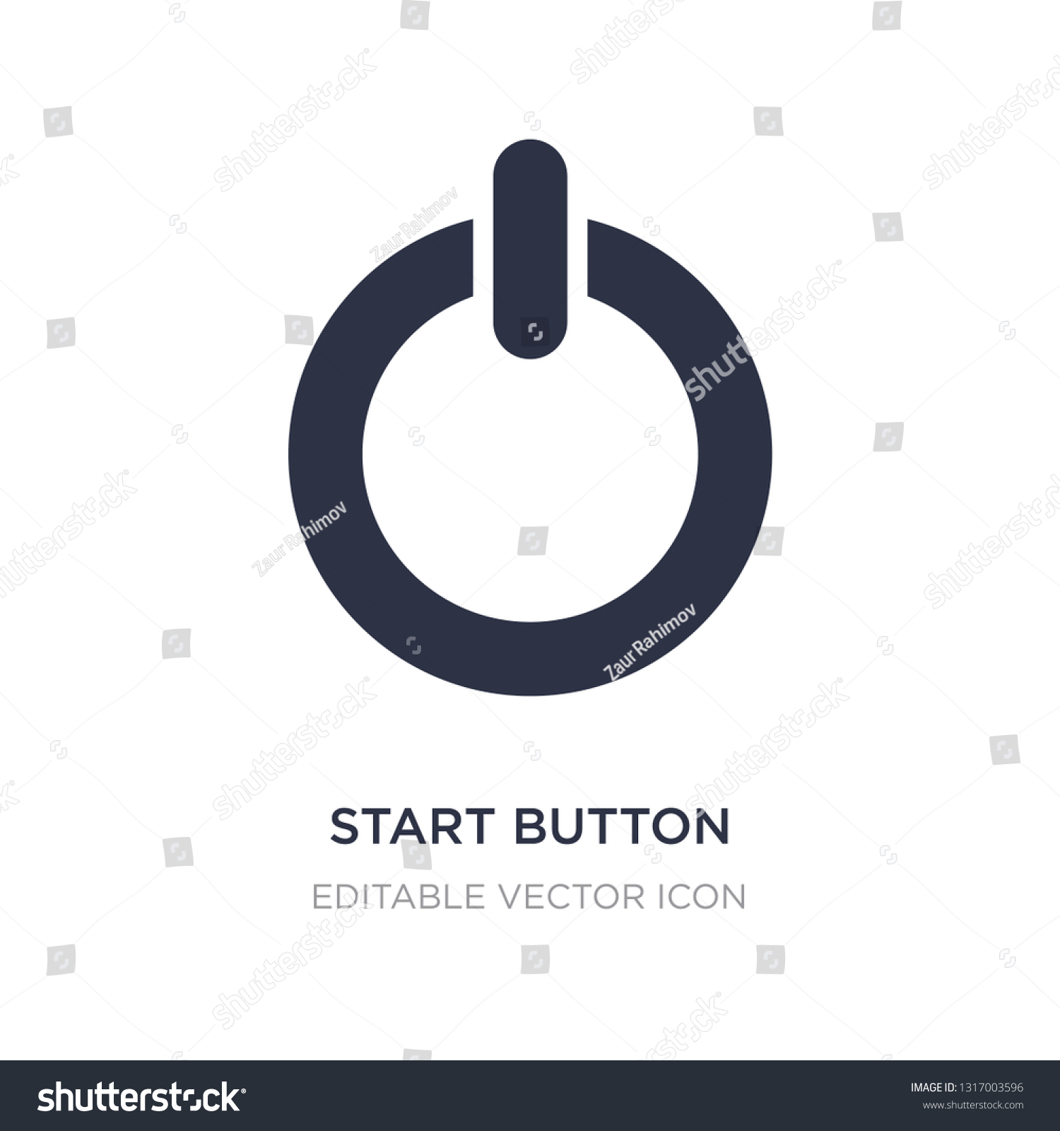 Start Button Icon On White Background Stock Vector (Royalty Free