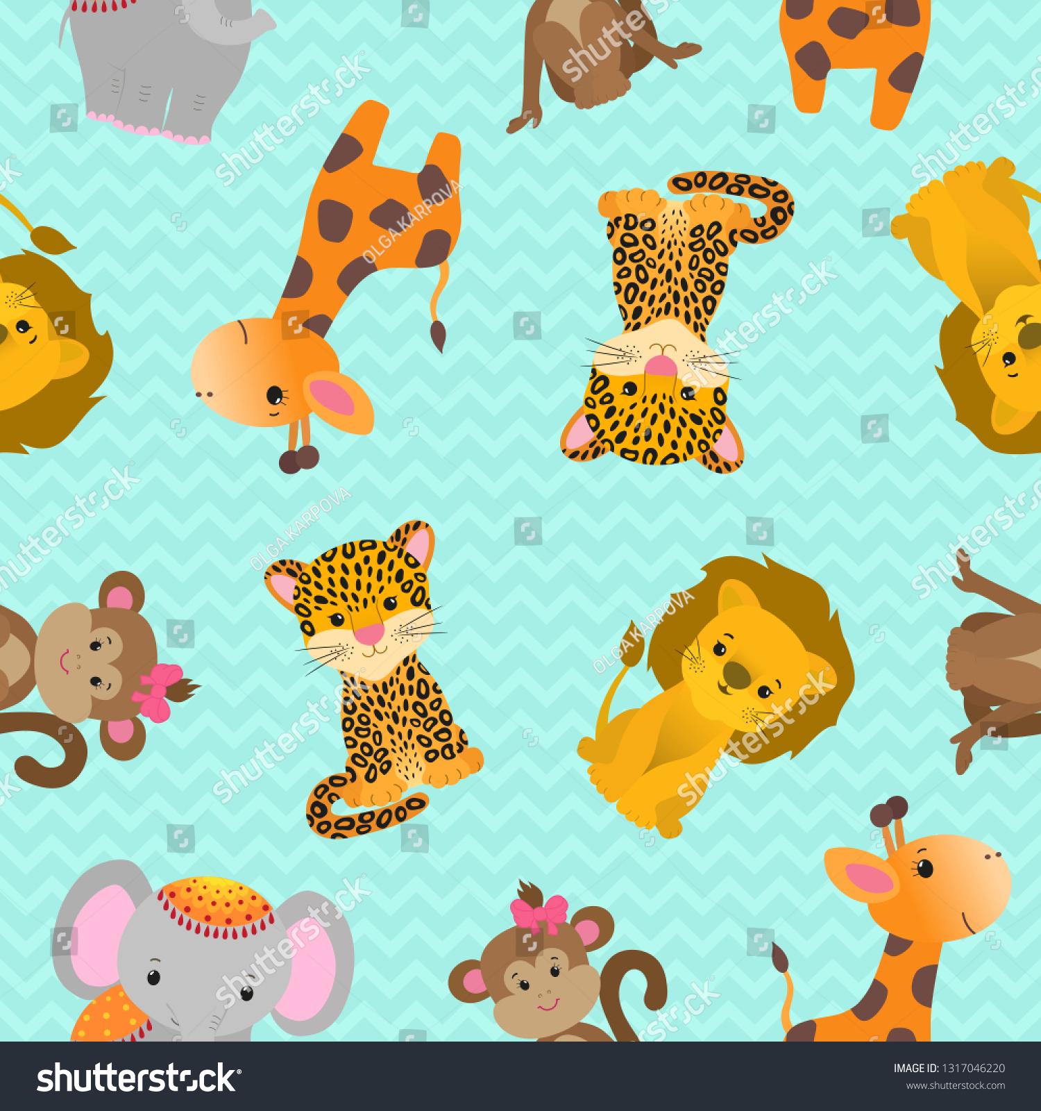 Animated Cheetah Wallpaper funny animals pattern seamless design cartoon stock vector