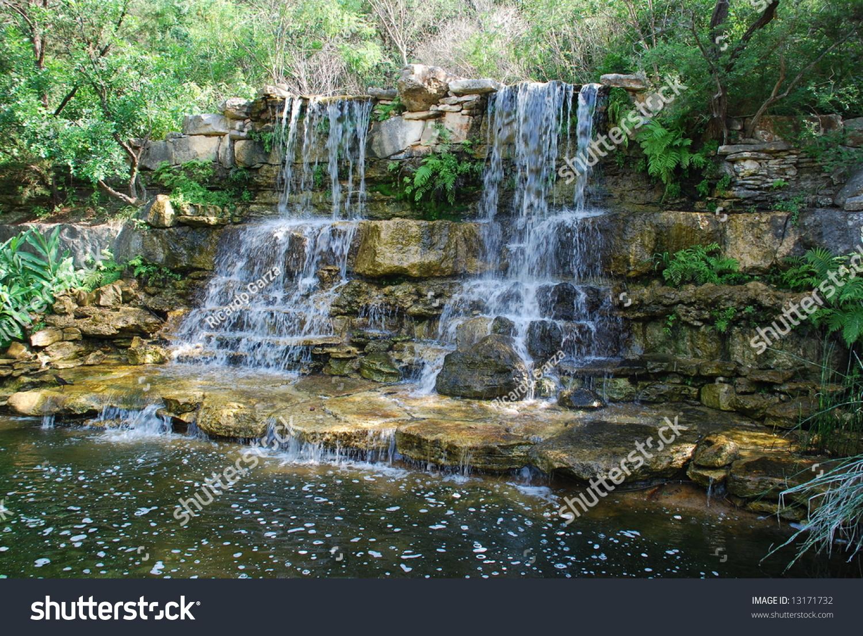 Man Made Waterfall Royalty Free Stock Photos - Image: 5880028