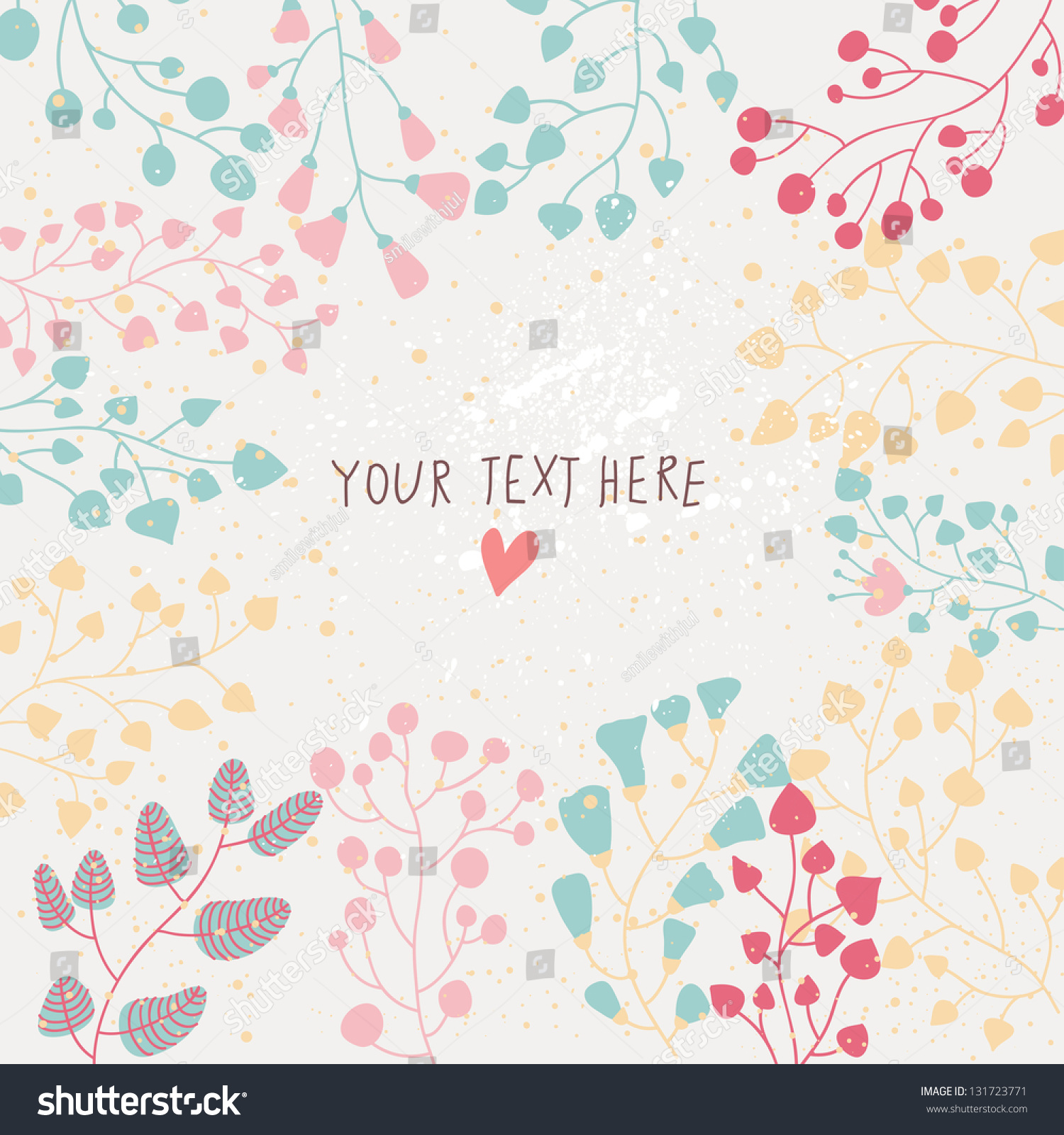 Light floral background vector colorful spring em vetor stock light floral background in vector colorful spring natural invitation stopboris Gallery