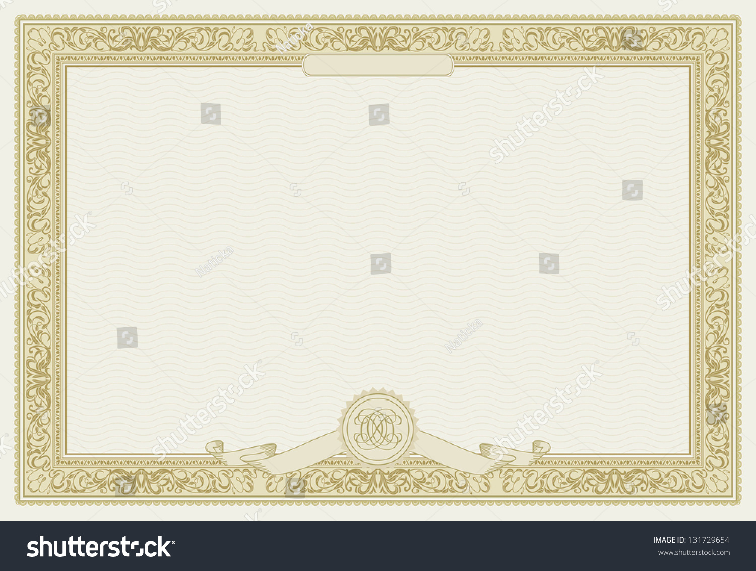 Editable vector certificate template ornamental border stock editable vector certificate template with ornamental border raster version 1betcityfo Choice Image