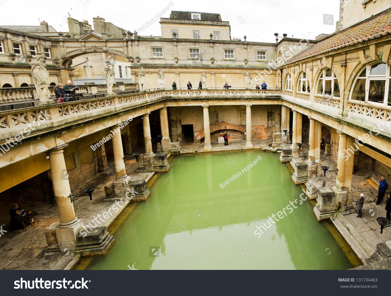 BATH ENGLAND MARCH 1 Roman Baths Stock Photo & Image (Royalty-Free ...