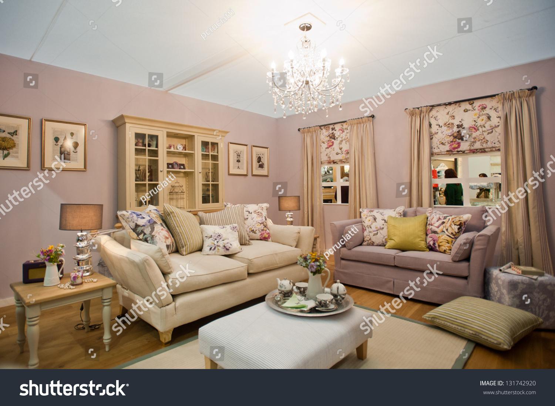 Ideal Home Living Room London Mar 15 British Boho Living Stock Photo 131742920 Shutterstock
