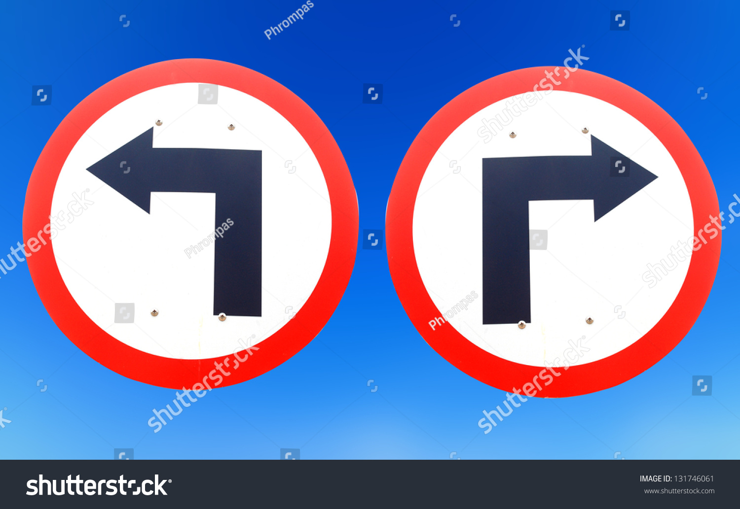 confusing direction signs copy space above stock photo
