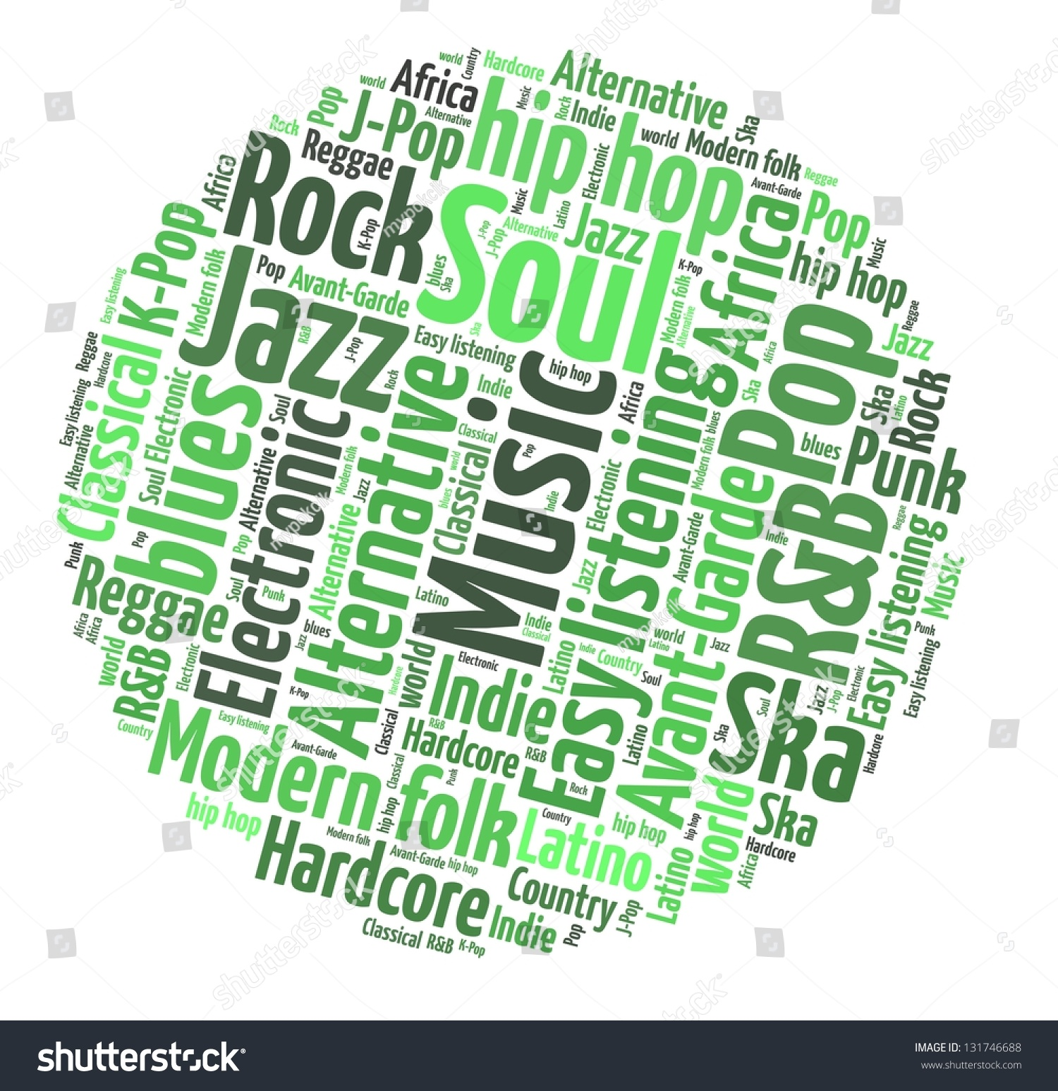 Genre: Music Genre In Word Collage Stock Photo 131746688