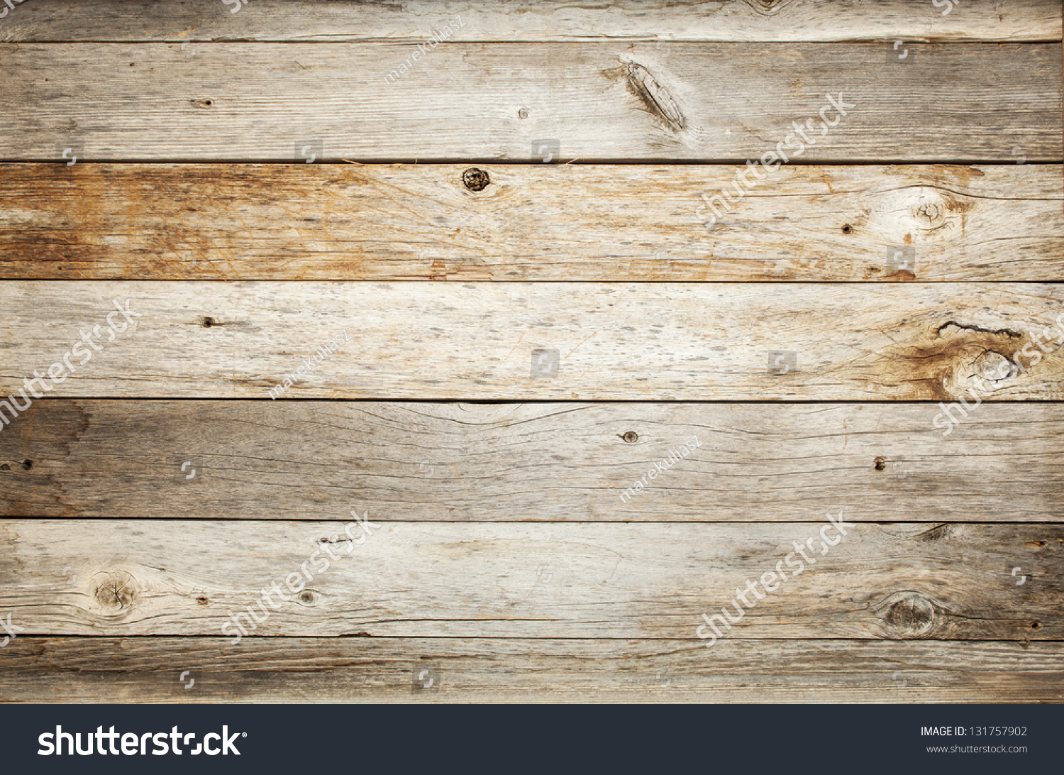 Rustic Weathered Barn Wood Background Knots Stock Photo 131757902 ...