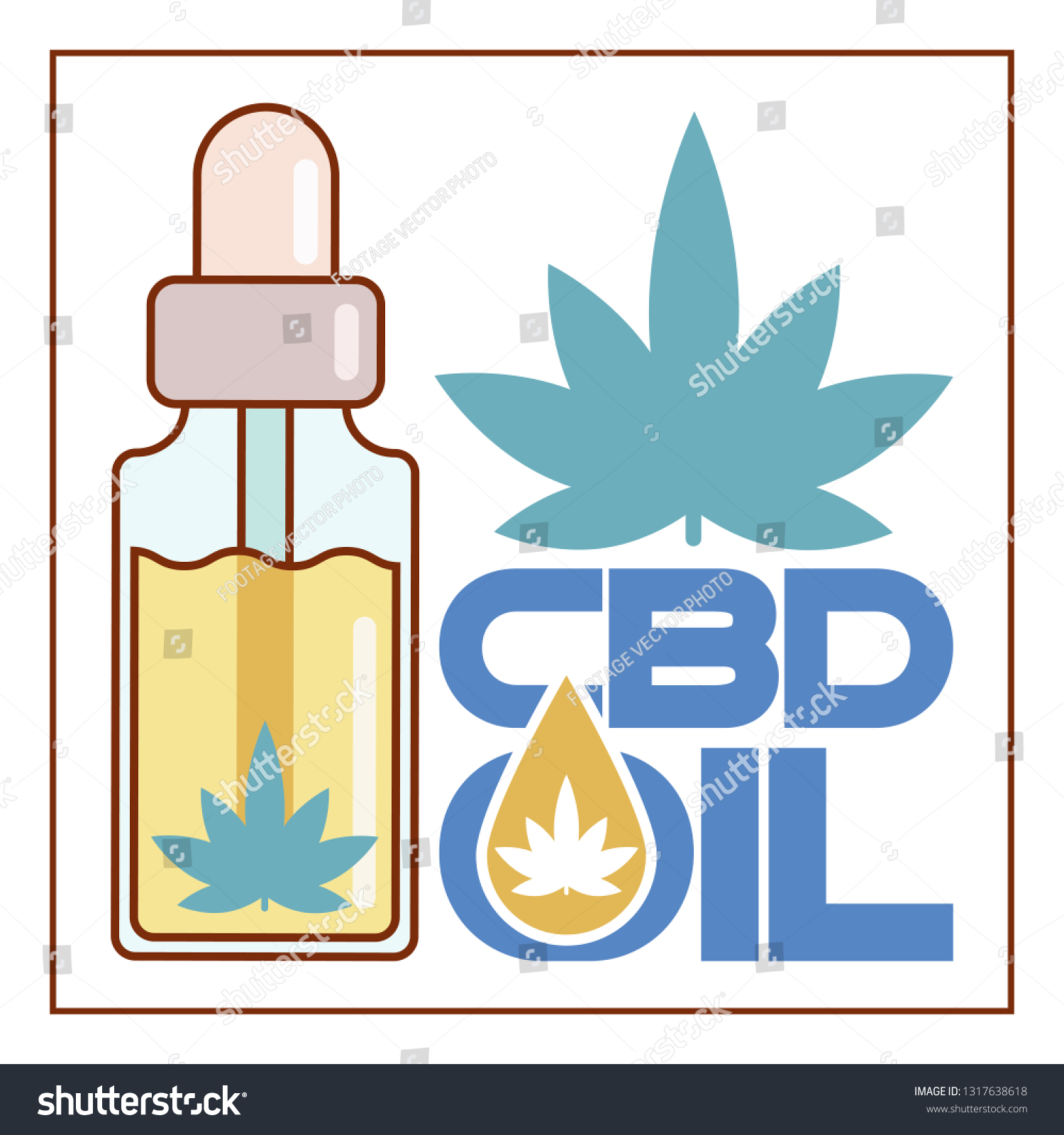 CBD Oil Poster Stock Vector (Royalty Free) 1317638618 - Shutterstock