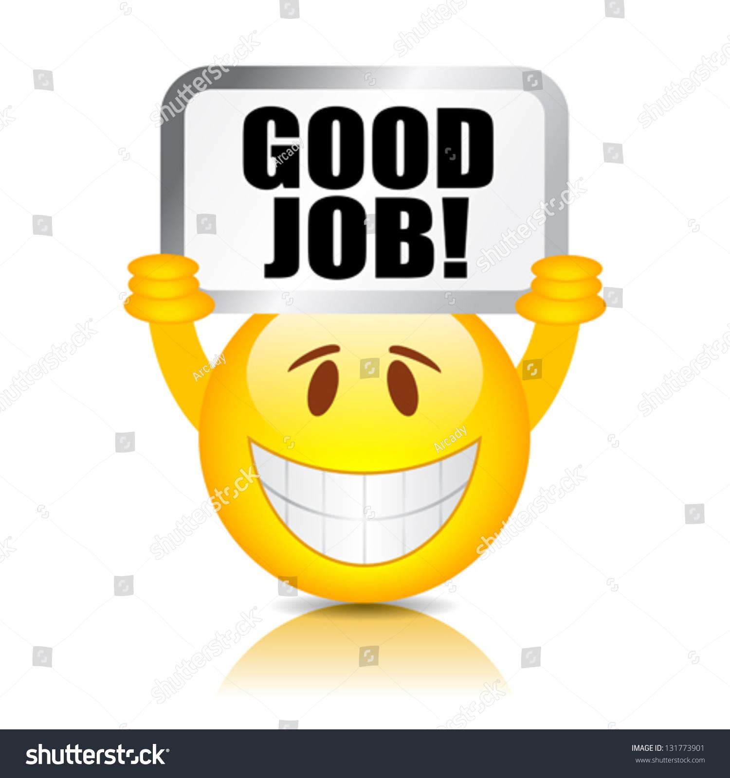 Vector Good Job Smiley Stock Vector 131773901 - Shutterstock-2498