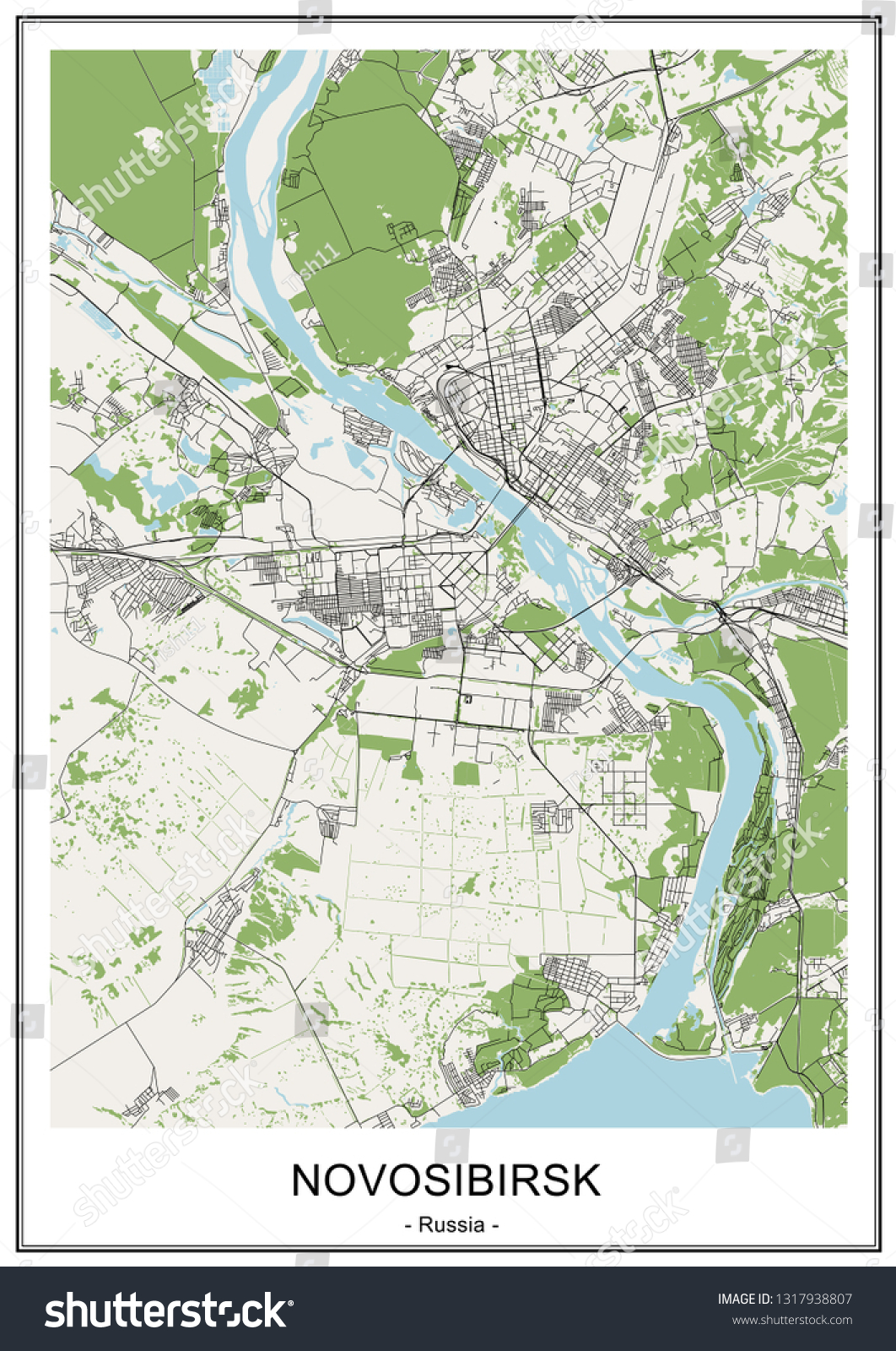 Picture of: Vector De Stock Libre De Regalias Sobre Vector Map City Novosibirsk Siberia Russia1317938807