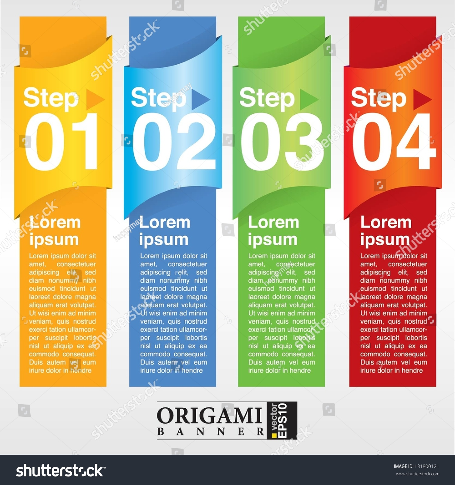 Abstract Colorful Vertical Banner Vectoreps10 Stock Vector ...