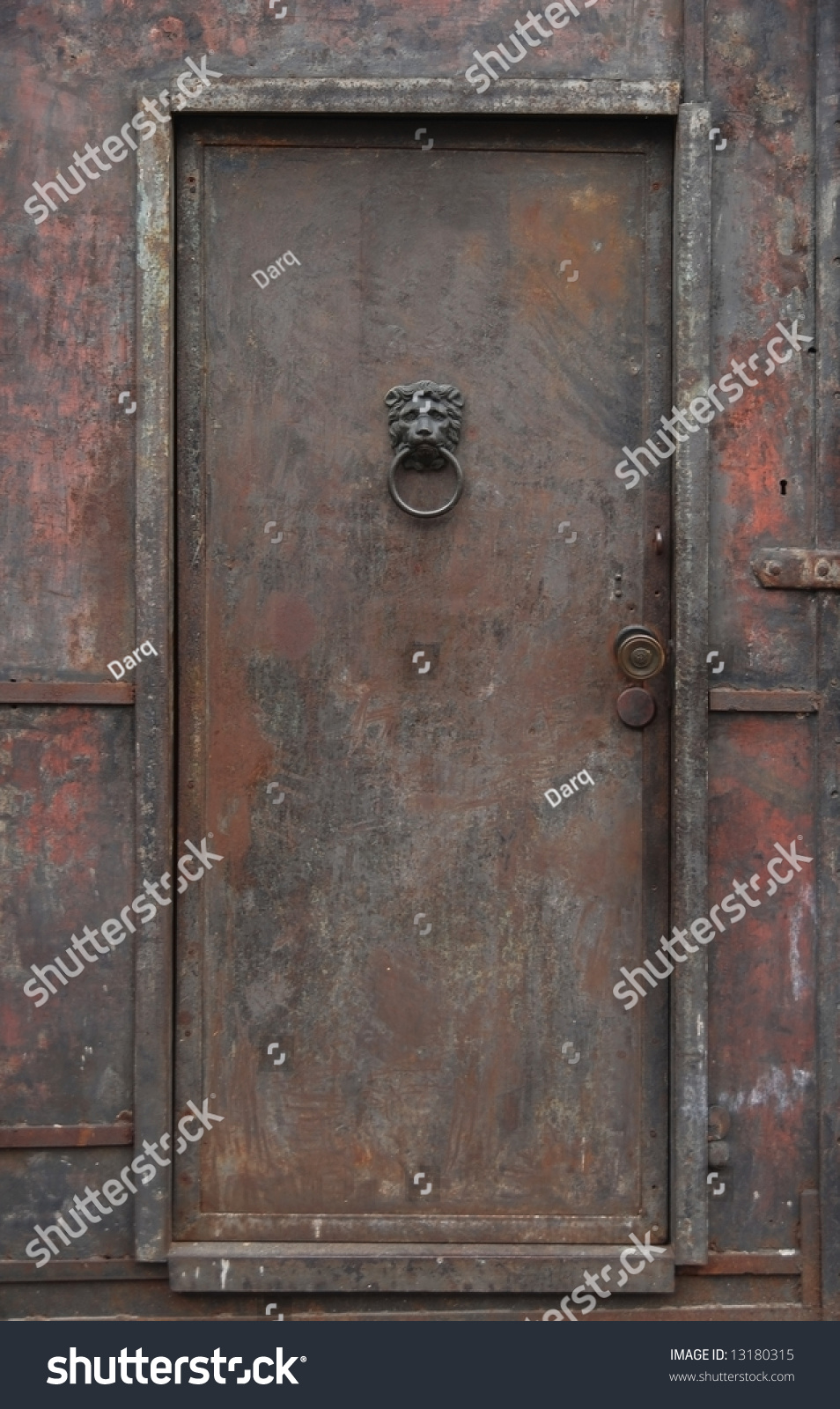 Old Rusty Heavy Iron Door Stock Photo 13180315 Shutterstock