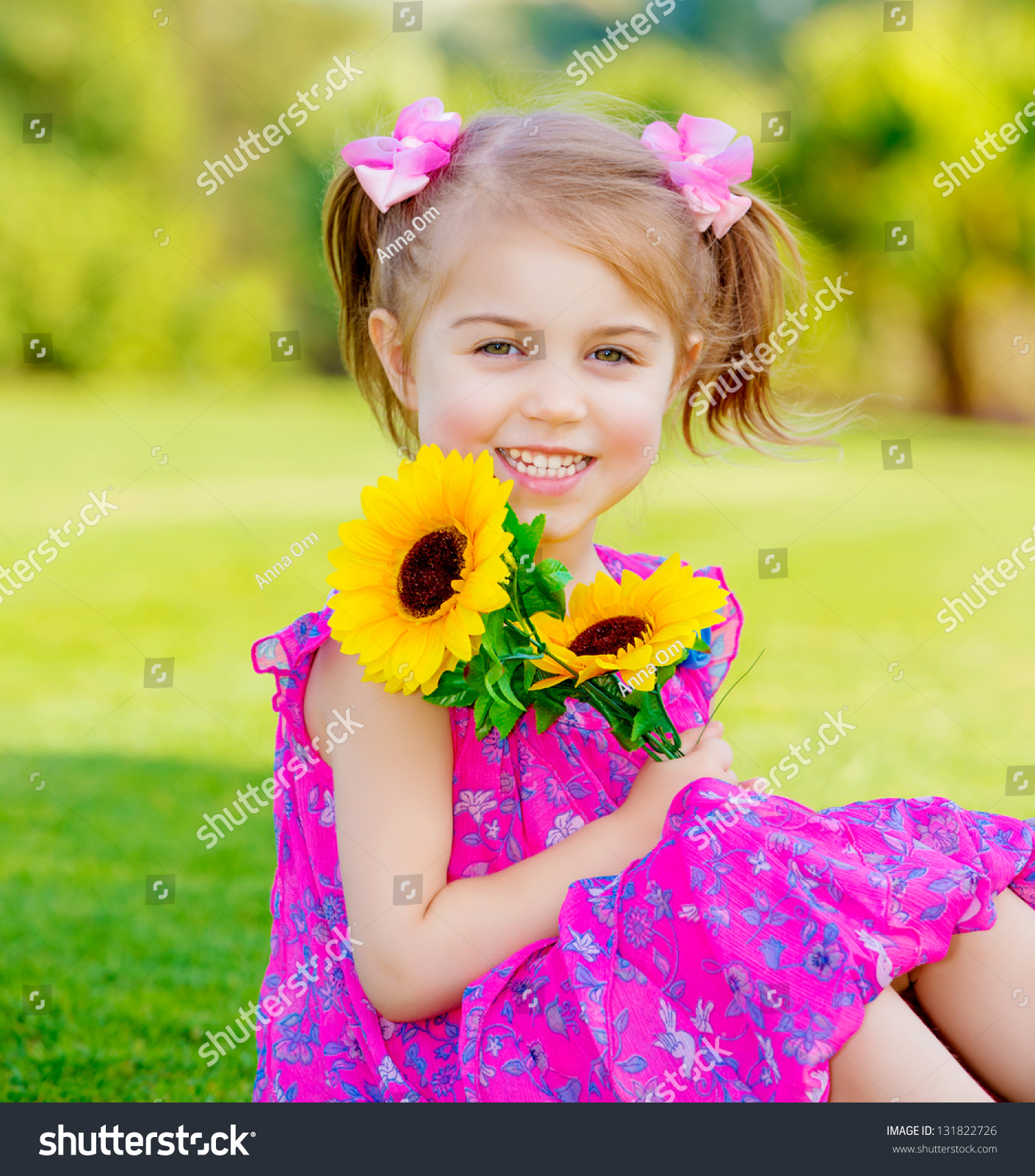 happy baby girl playing outdoor cute stock photo (edit now