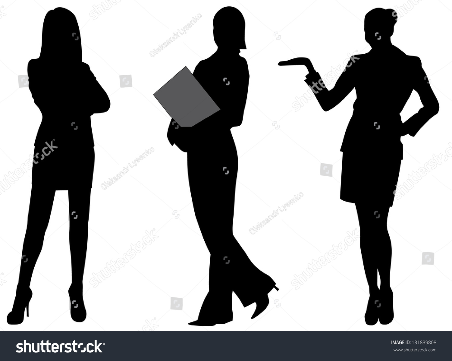 Business Woman Silhouette Vector Illustration Stock Vector ...