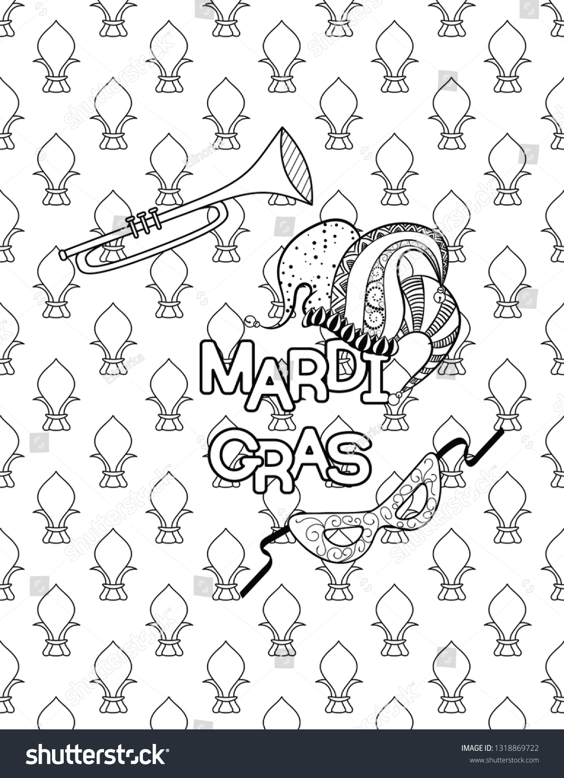 Free Mardi Gras Mask Coloring Pages, Download Free Clip Art, Free ... | 1600x1160