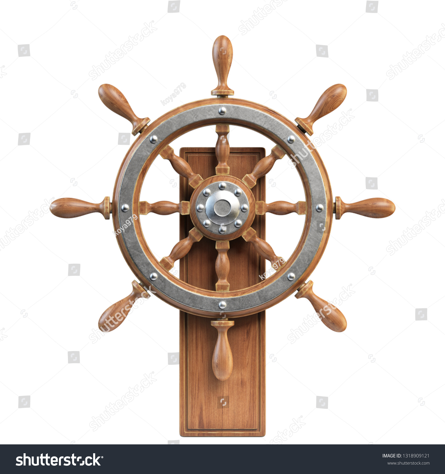 Ilustracoes Stock Imagens E Vetores De Ship Wheel Stand Isolated On White 1318909121