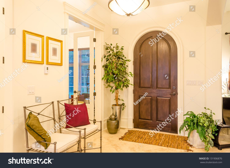 Classic american home entrance interior stock photo for Classic american house interior