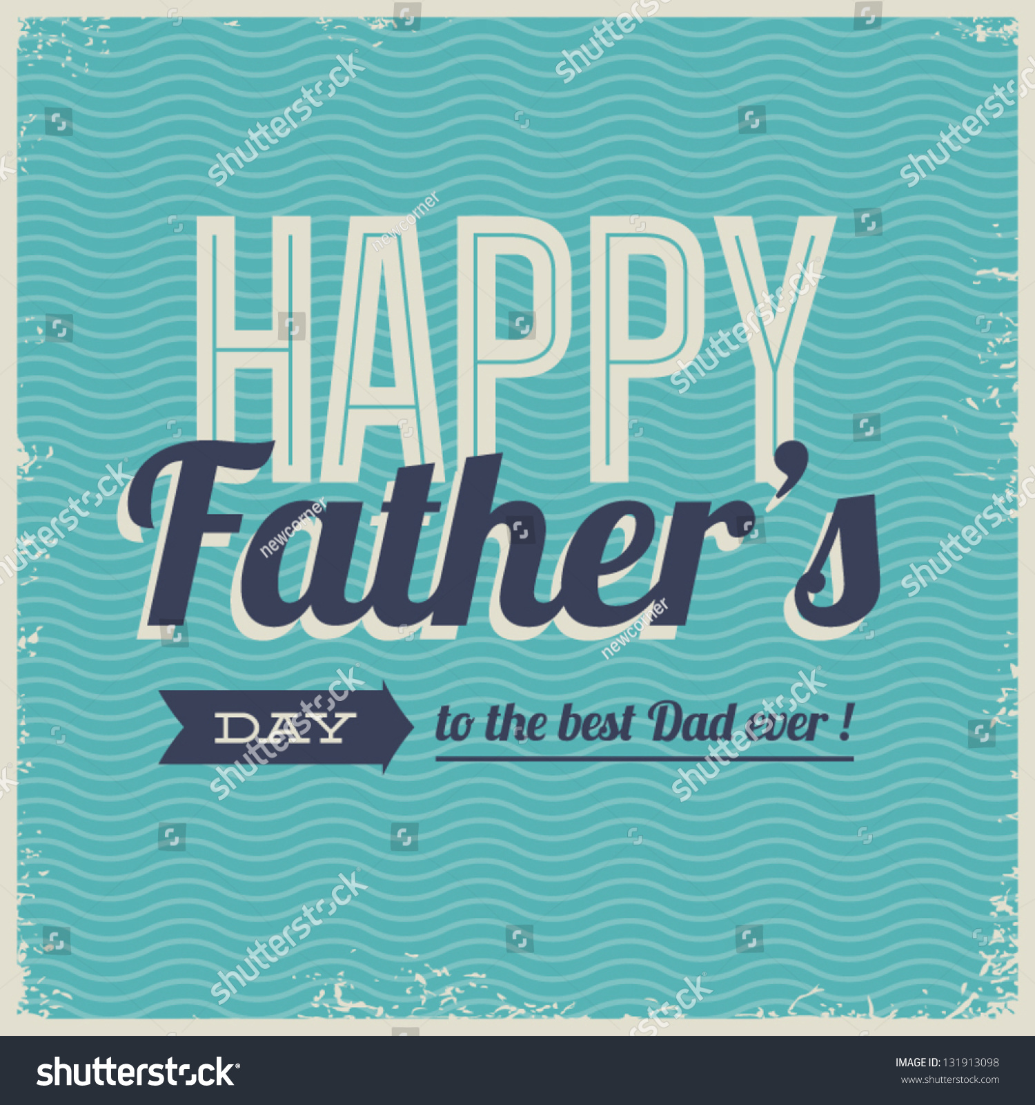 Lisa S Tool Time Father S Day Card: Happy Fathers Day Card Vintage Retro Type Font Stock