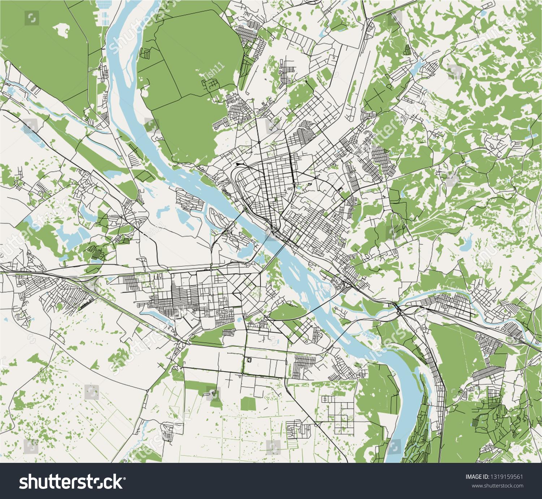 Picture of: Vector De Stock Libre De Regalias Sobre Vector Map City Novosibirsk Siberia Russia1319159561