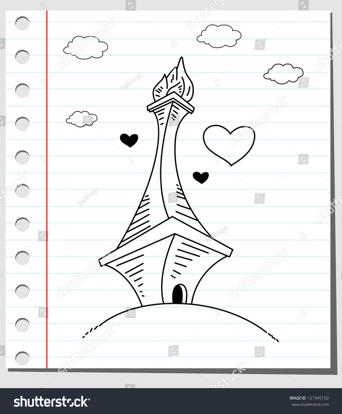 Vector Doodle Of Jakarta