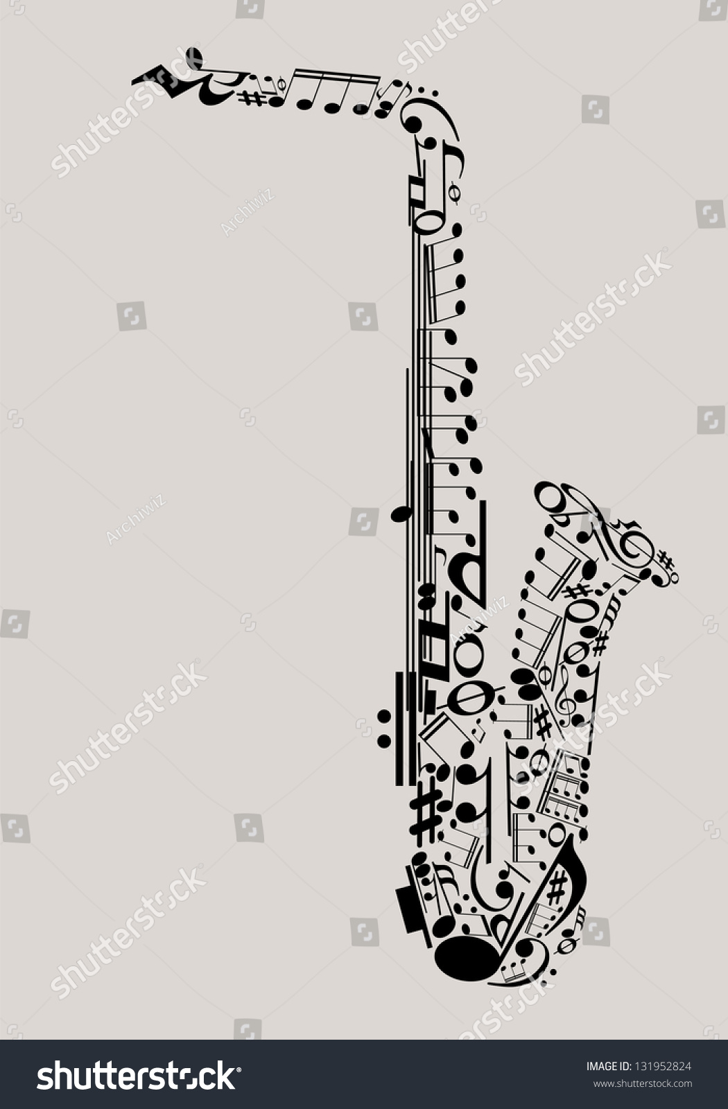 Royalty Free Jazz Music Saxophone Made With Musical 131952824