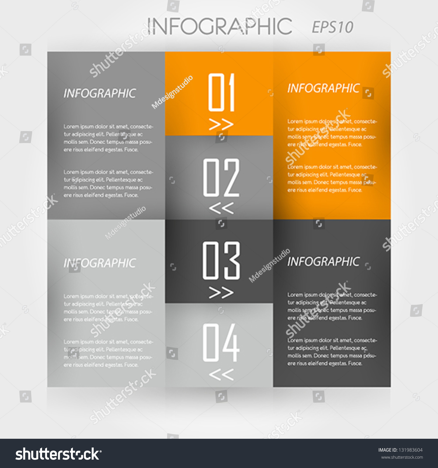 orange infographic 4 corners infographic concept ilustraci n vectorial en stock 131983604. Black Bedroom Furniture Sets. Home Design Ideas