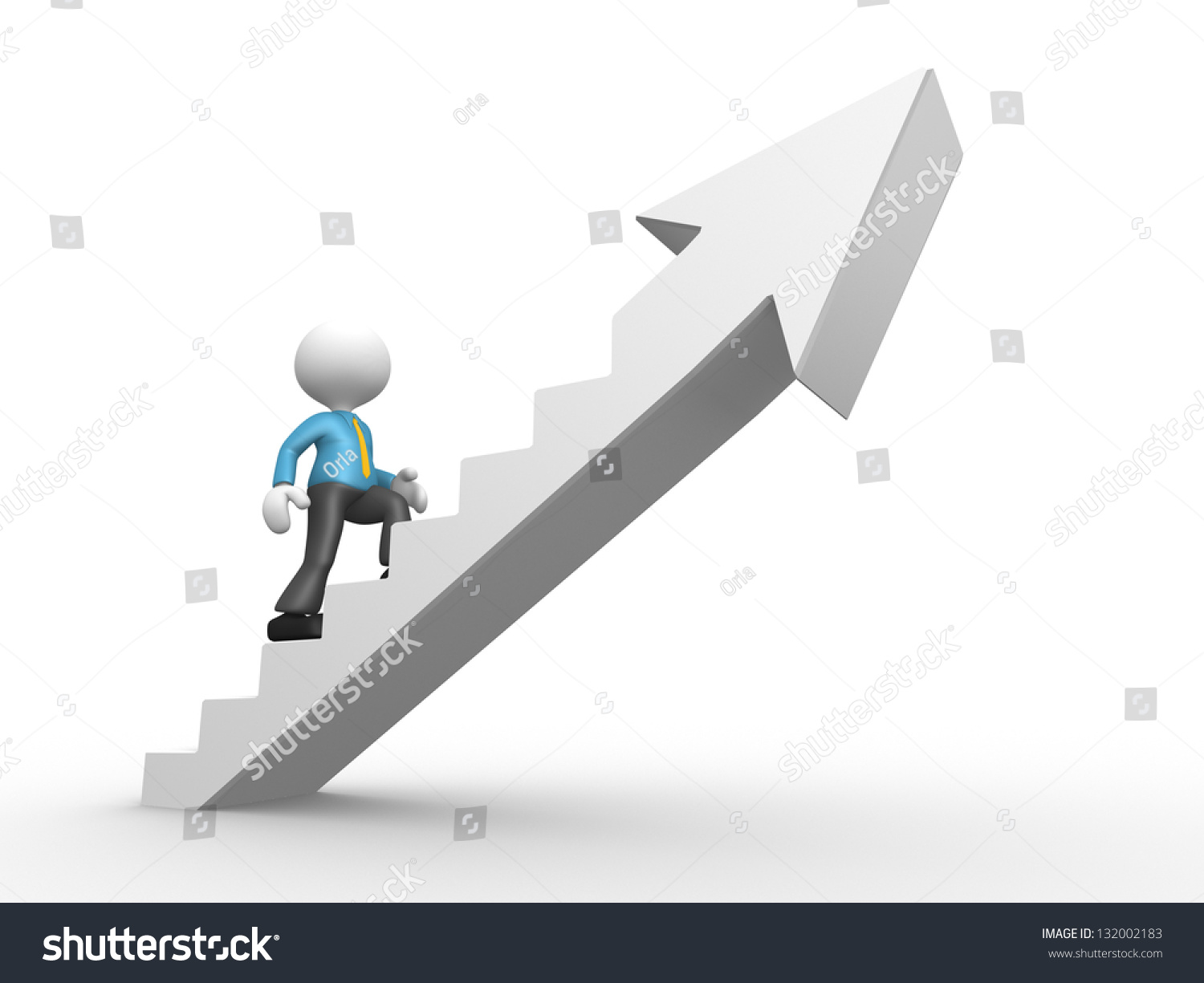 3d People Man Person Climbing Stairs Stock Illustration 132002183 ... for Climbing Stairs To Success  195sfw