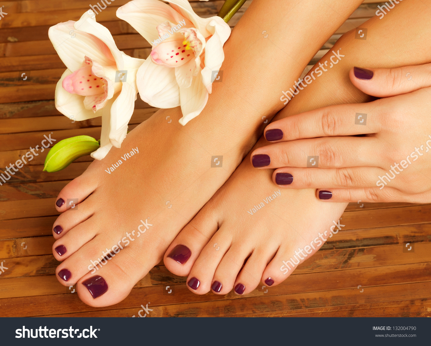 Massage and pedicure