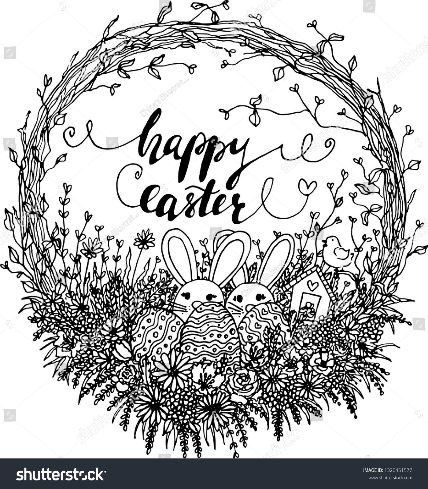 stock-vector-vector-hello-easter-wreath-