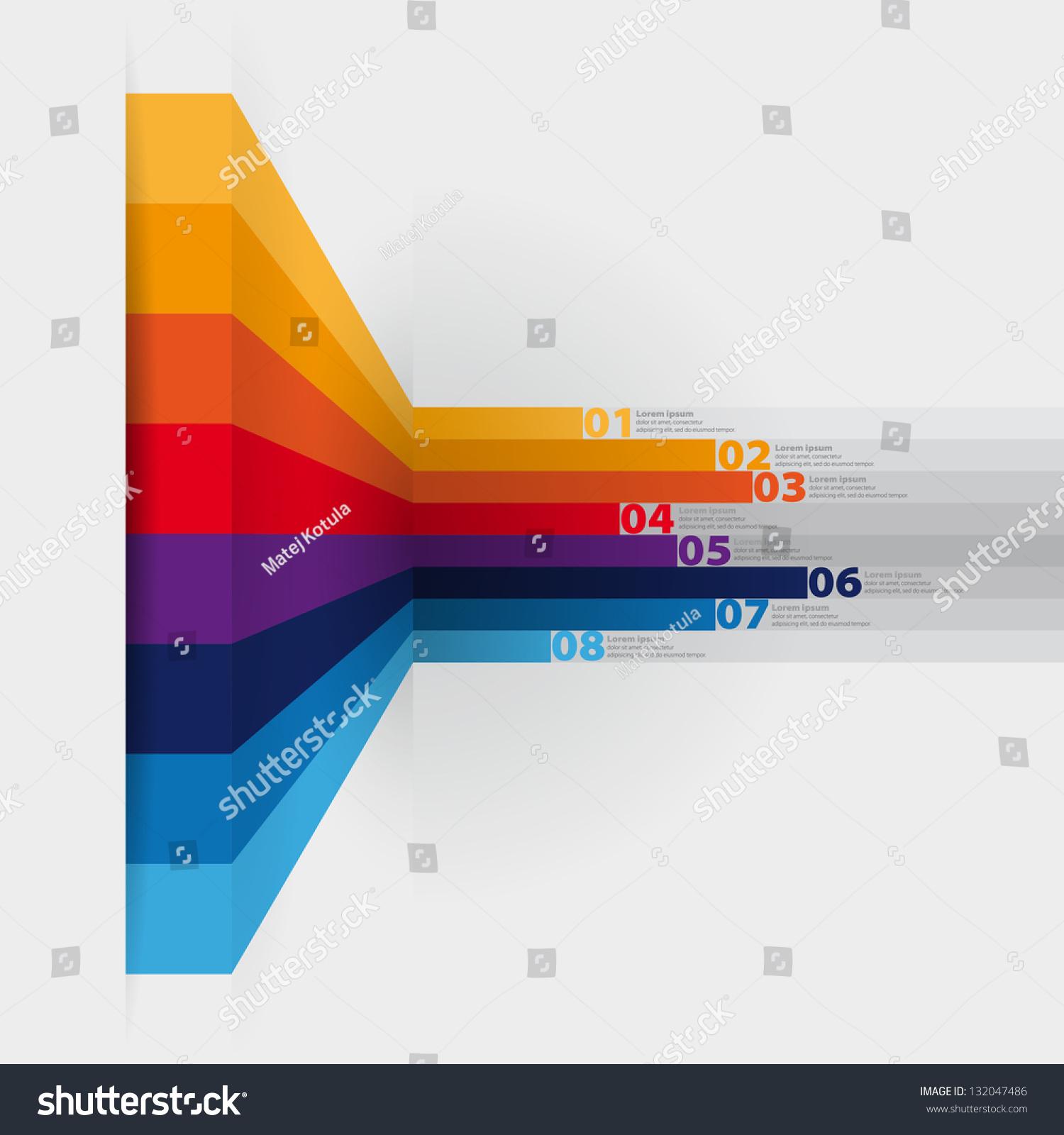 vector web design template horizontal lines stock vector 132047486