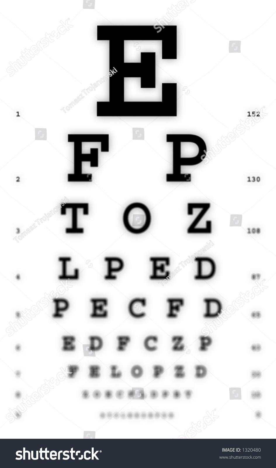 Medical fuzzy sight eye chart stock photo 1320480 shutterstock medical fuzzy sight of eye chart nvjuhfo Images