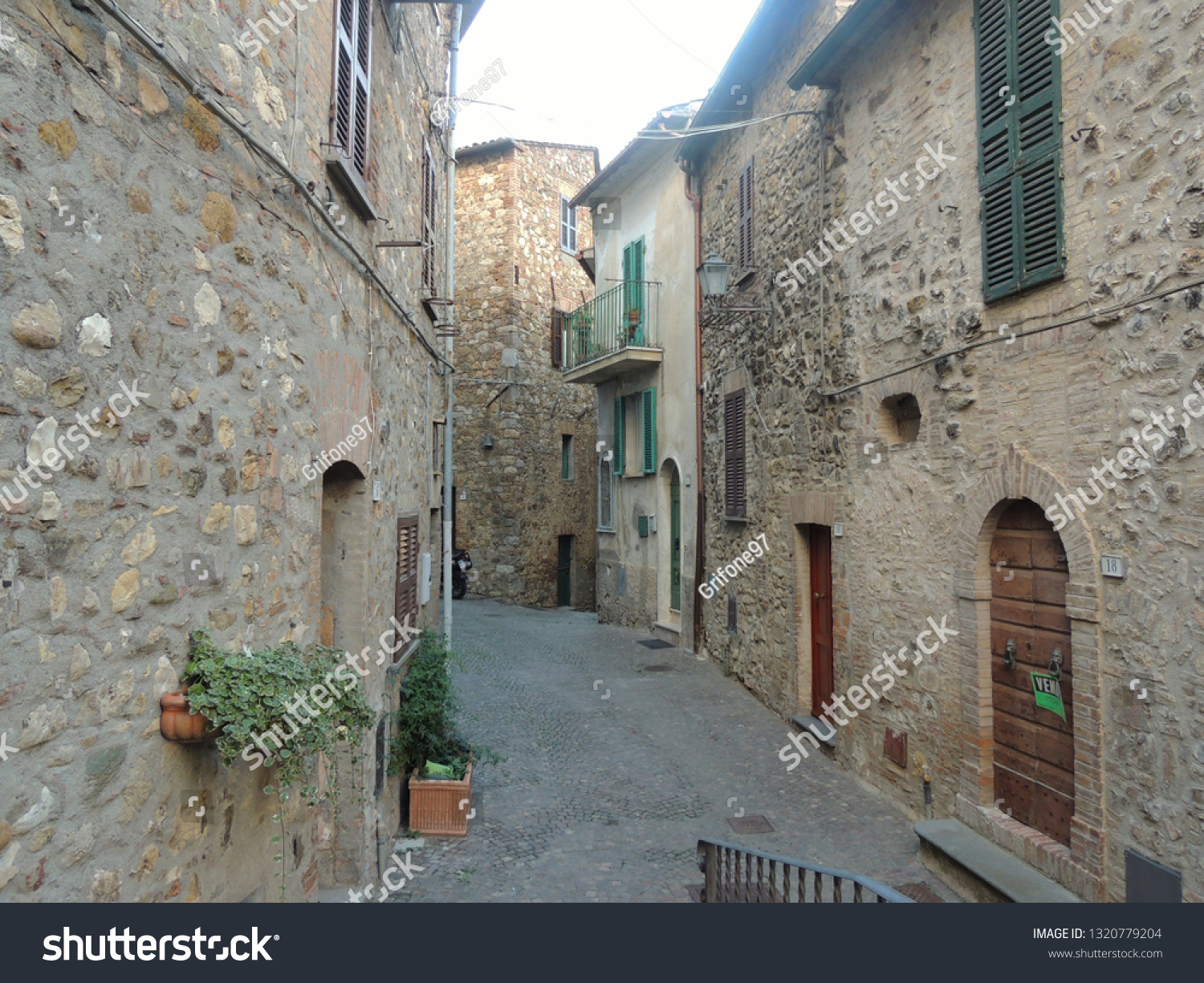 Medieval alley of Allerona, one of the most beautiful villages in Italy.