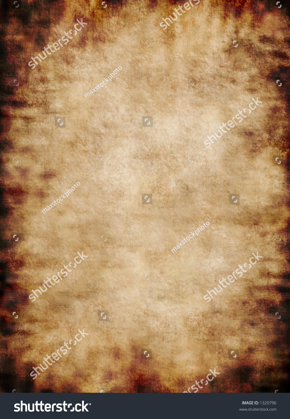 Old Rough Antique Rustic Grungy Vertical Parchment Paper Texture Background
