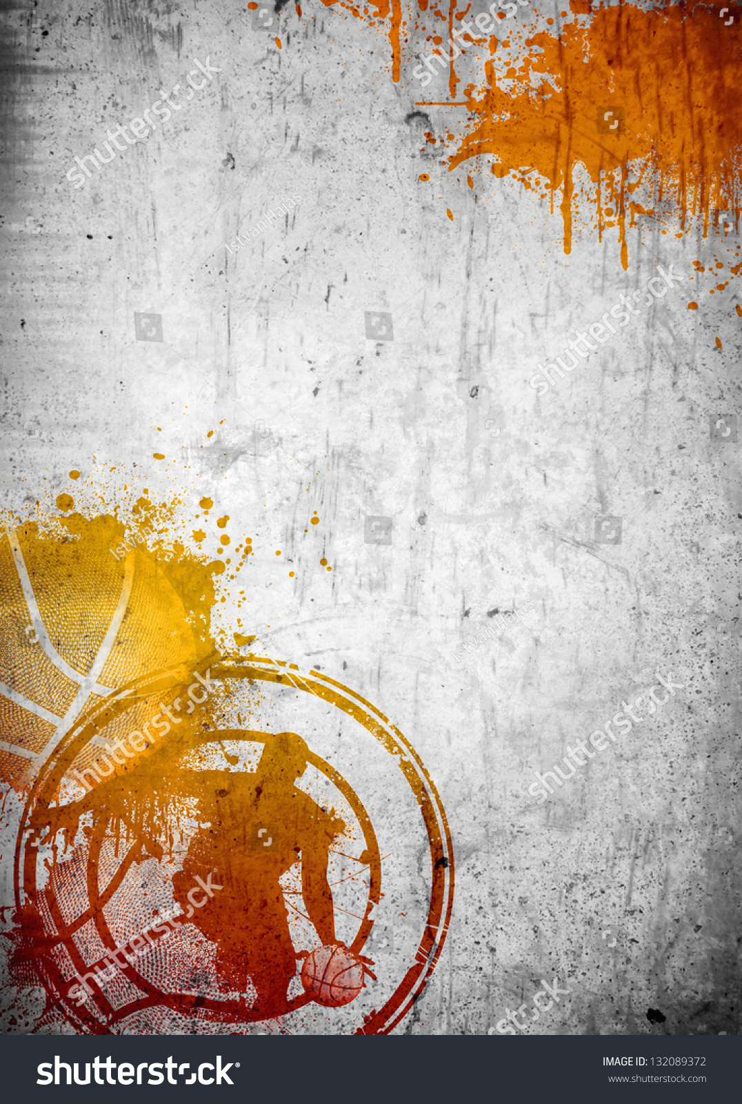 abstract color basketball streetball poster flyer stock abstract color basketball and streetball poster or flyer background space