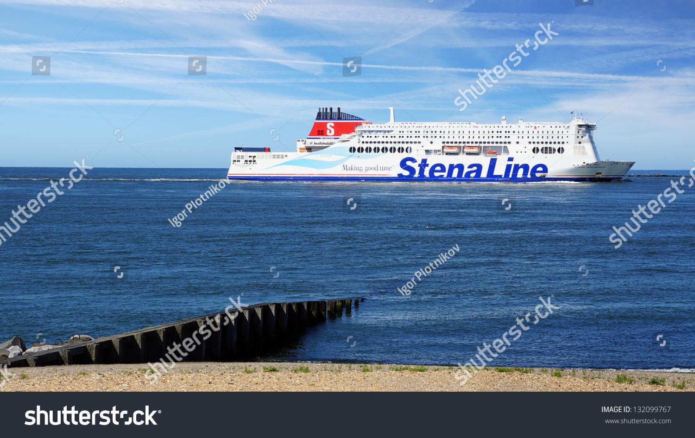 Rotterdamhollandaugust 02stena Line Ship Rotterdam Portstena Stock