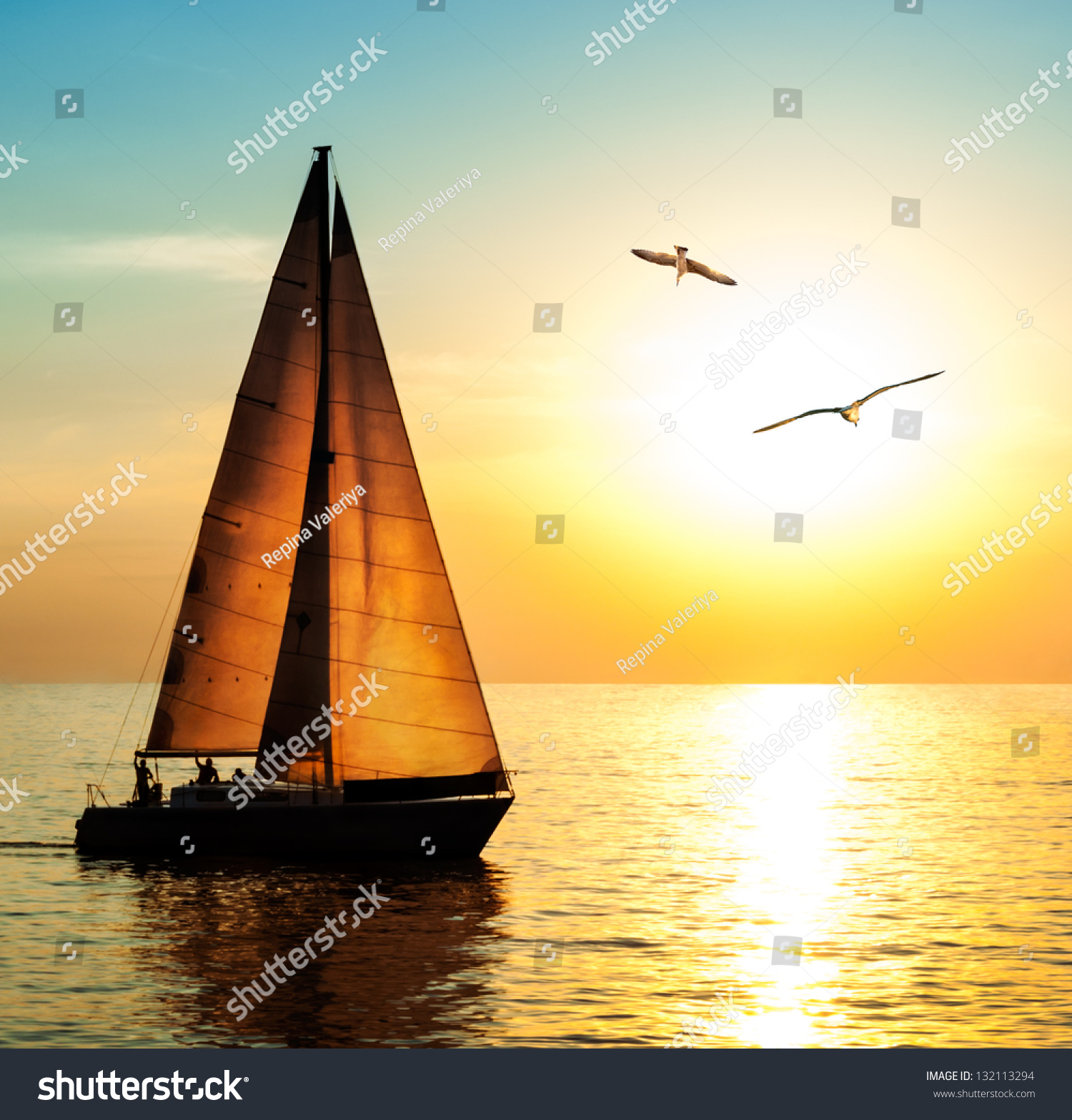 sunset sailing boats rocks - photo #5